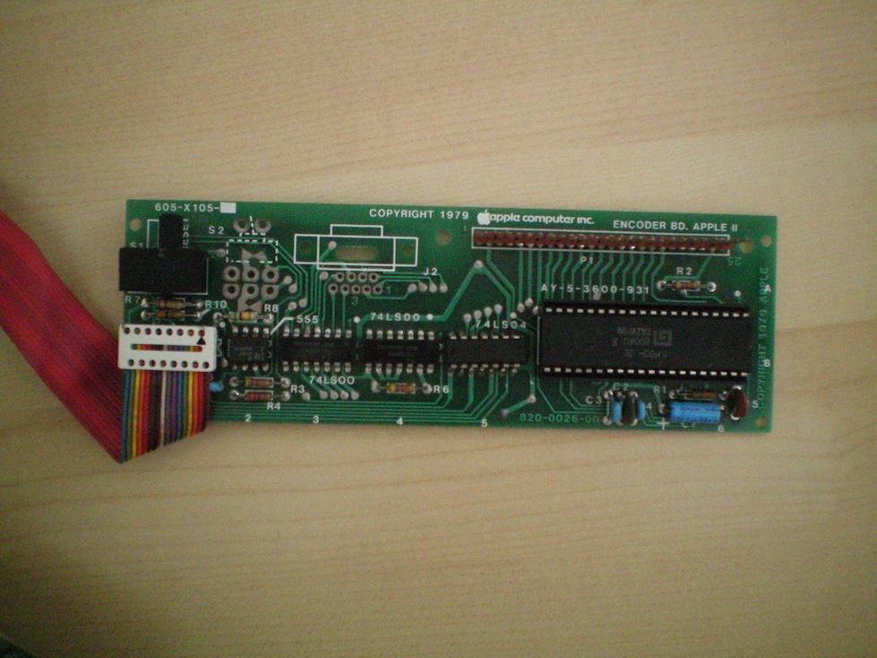 Original Apple II Encoder Card